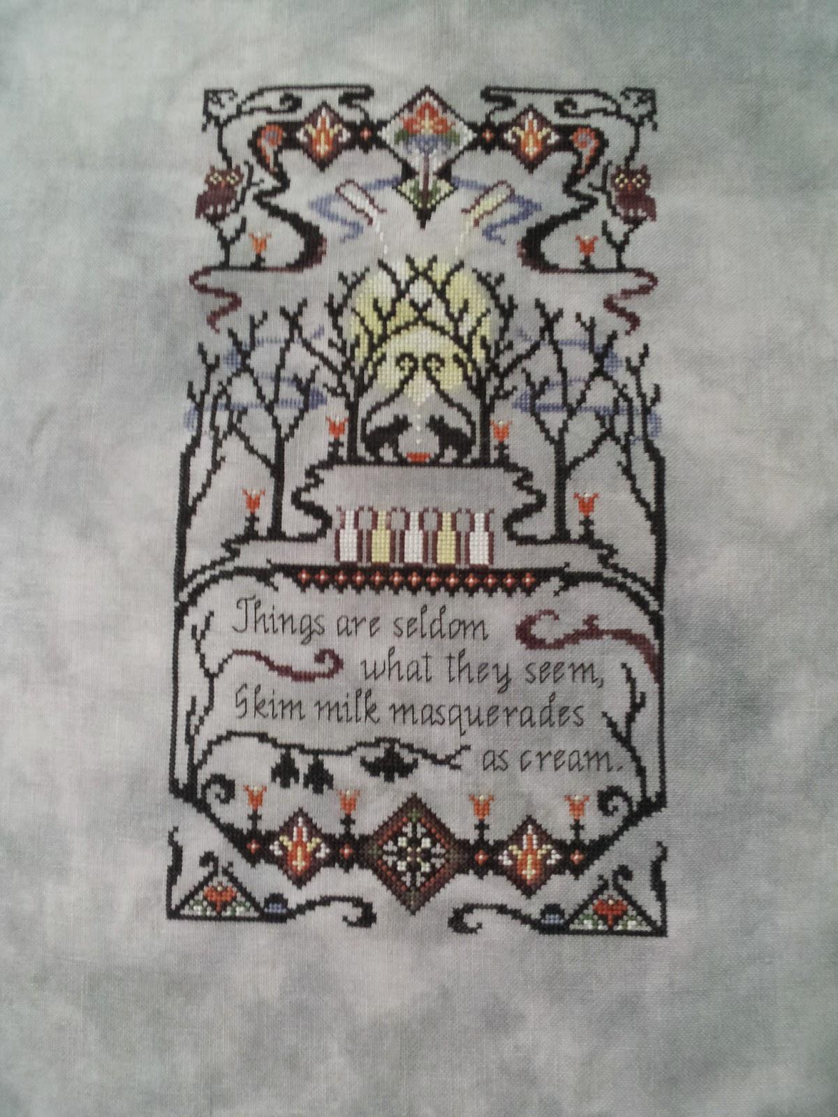 Ink Circles Masquerade cross stitch