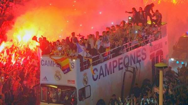 احتفالات ريال مدريد بالعاشرة