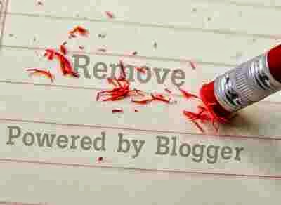 Remove Powered by blogger attribution in blogger