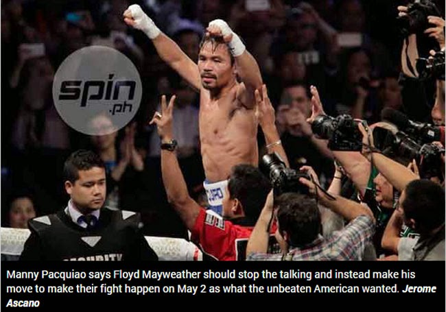 Manny Pacquiao Answered Back on Floyd Mayweather Jr
