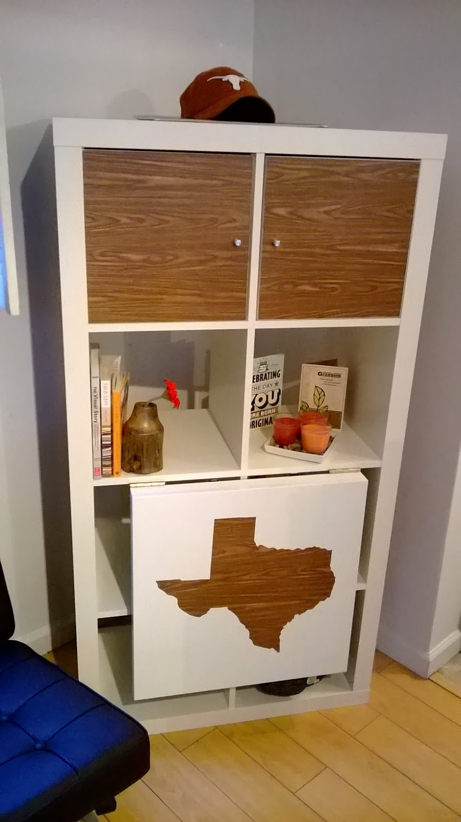 Mi rinc n de sue os estanter a con mesa plegable - Medidas estanteria expedit ...
