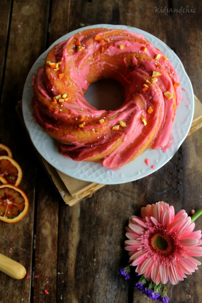 Bundt cake de Naranjas Sanguinas y romero 1
