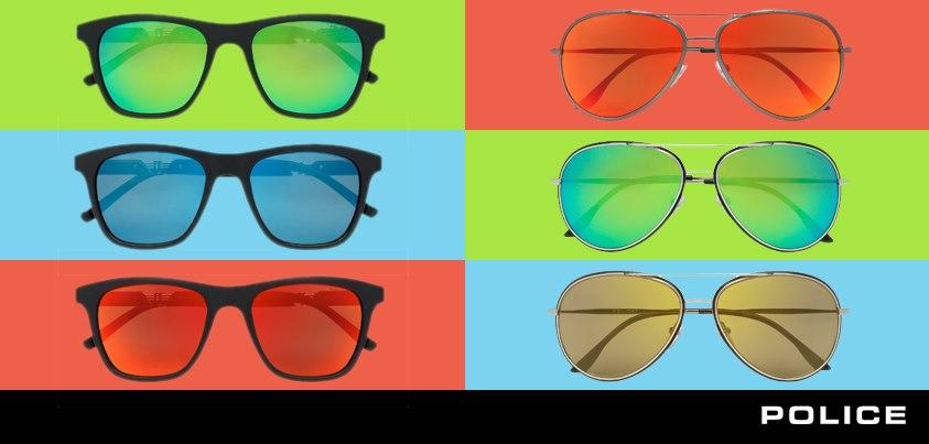 línea color rock de gafas de sol police
