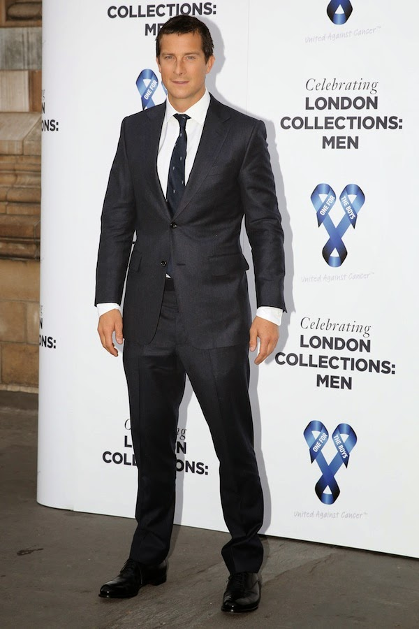 Bear Grylls 16th June 2014 Alfred Dunhill suit - One For The Boys Charity Ball hosted by Samuel L Jackson London Collections Men SS2015