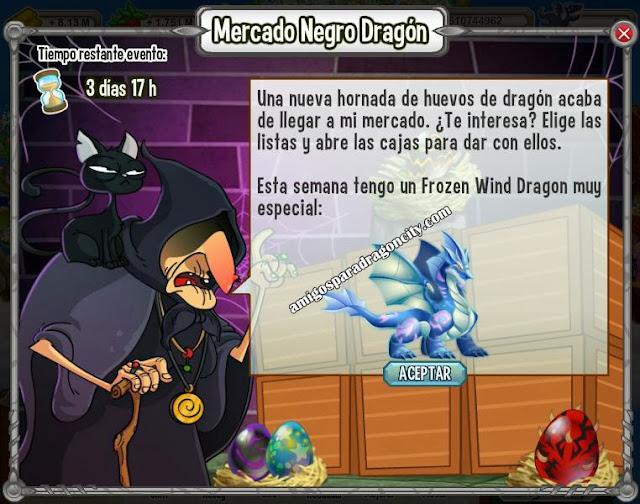 imagen del frozen wind dragon en el mercado negro del dragon