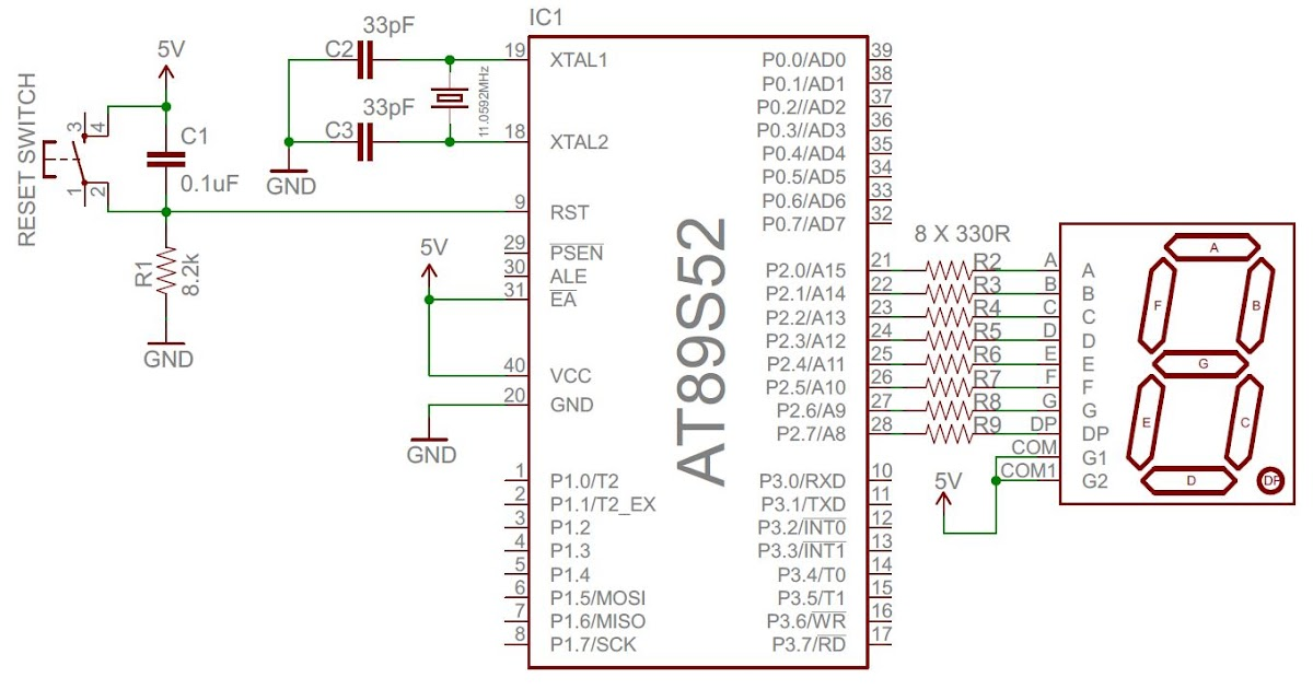Open Electronics Project Interfacing Seven Segment Display To 8051