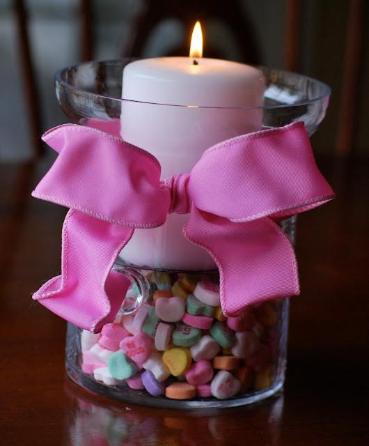 centro de mesa con caramelos