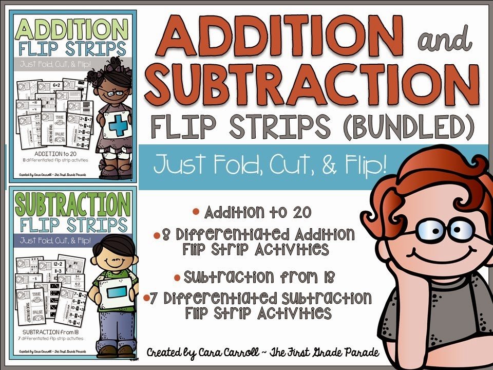 ADDITION & SUBTRACTION FLIP STRIPS