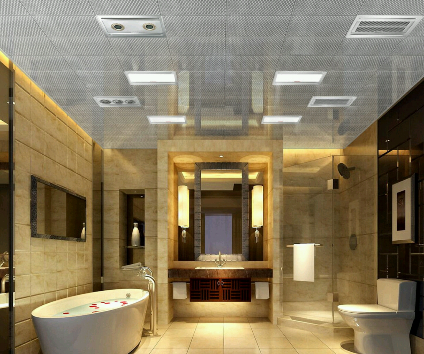 New home designs latest luxury bathrooms designs ideas Home bathroom designs