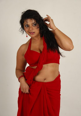 swathi varma ,armpit in red saree hot images