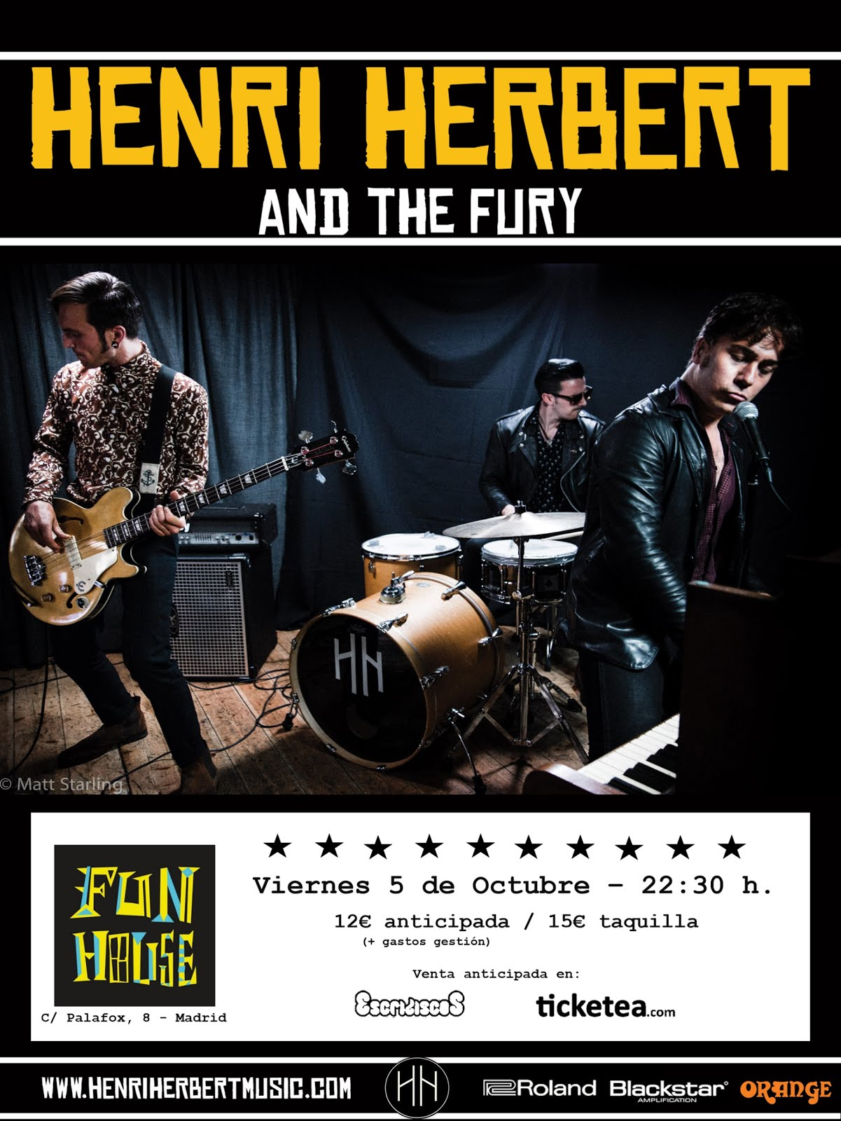Henri Herbert & The Fury - 05/10/2018 - Fun House (Madrid)