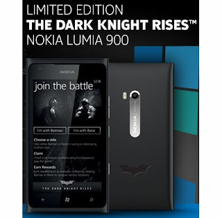 Nokia Lumia 900 Edisi Batman The Dark Knight Rises Akan Hadir Di Indonesia