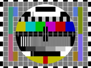 Klassisk analog testbild för tv-sändning