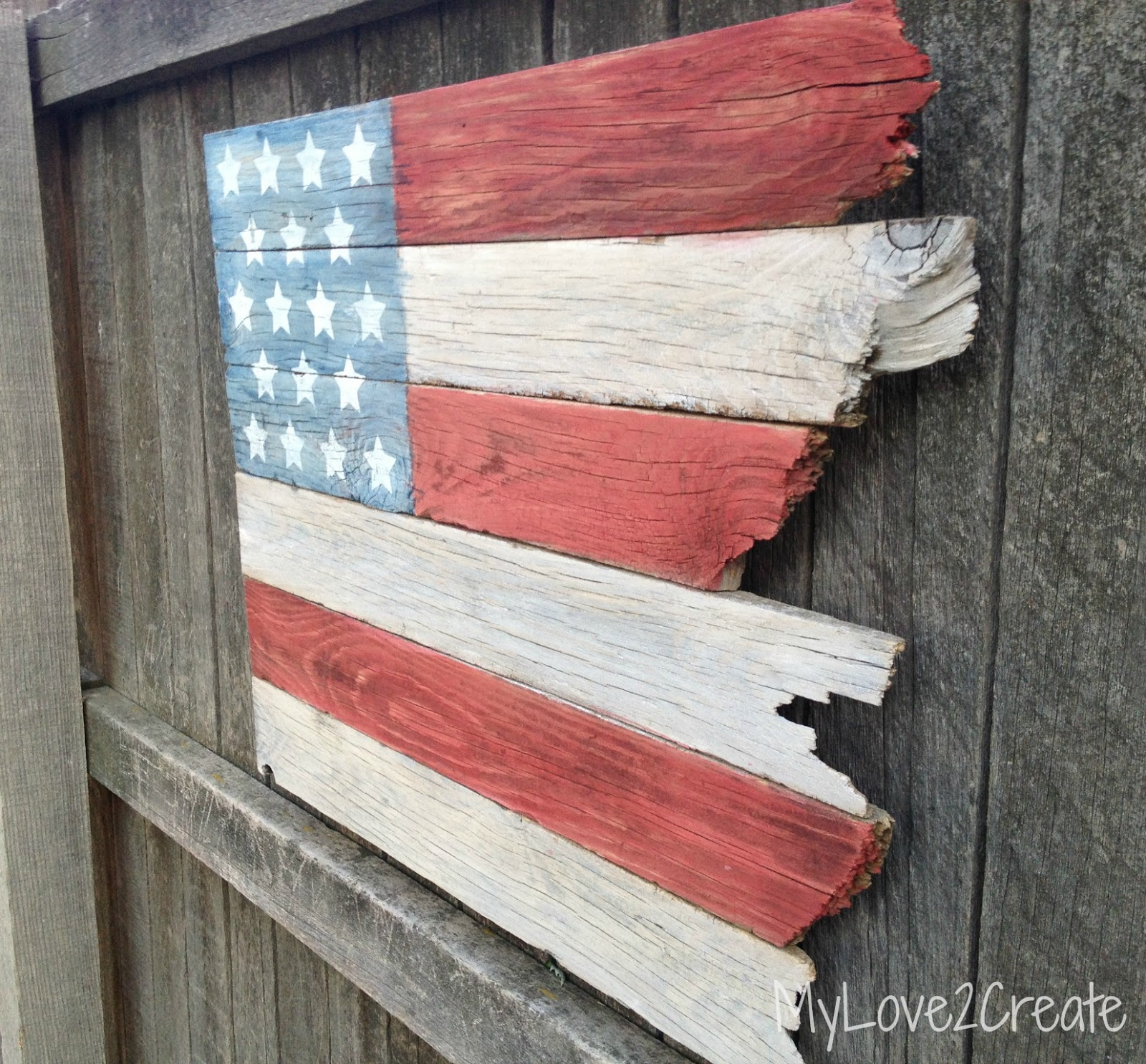 Scrap wood american flag my love 2 create for Craft ideas from wood