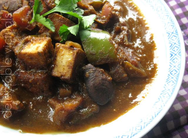 mushroom paneer curry