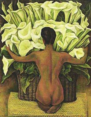 Desnudo con Flores - Diego Rivera