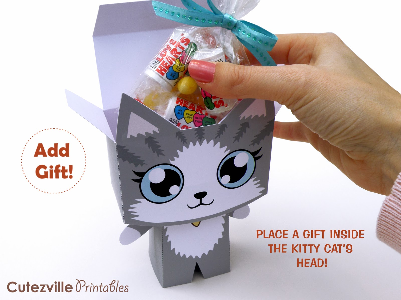 Cutezville printables kitty cat printable gift box kitty cat printable gift box solutioingenieria Images