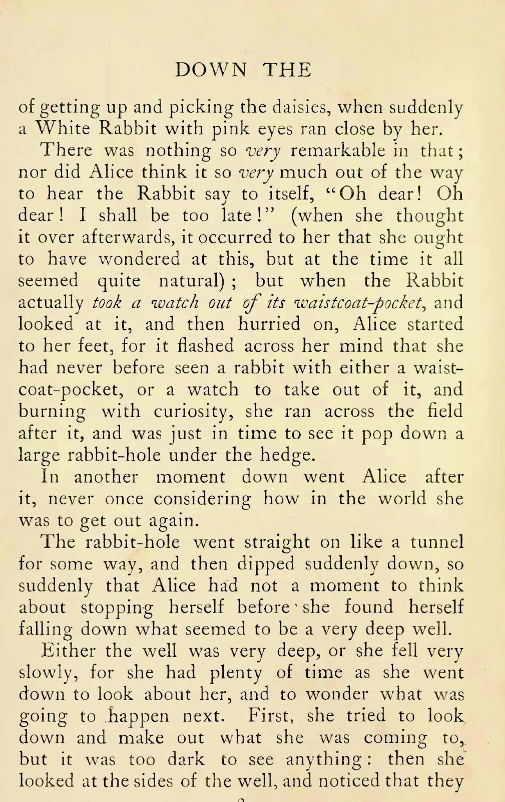 Emily's Image Garden: Antique Book Page: Alice in Wonderland