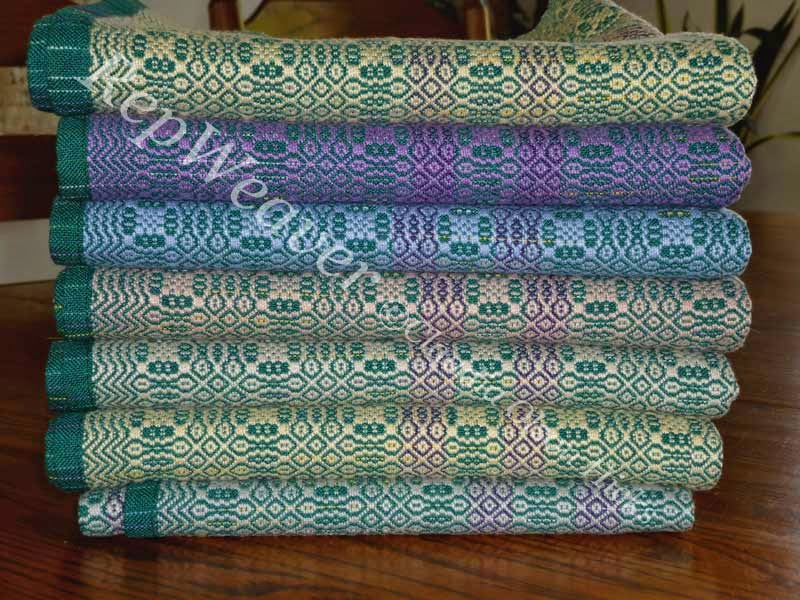 Stack of Wee Coverlets for Baby by RepWeaver