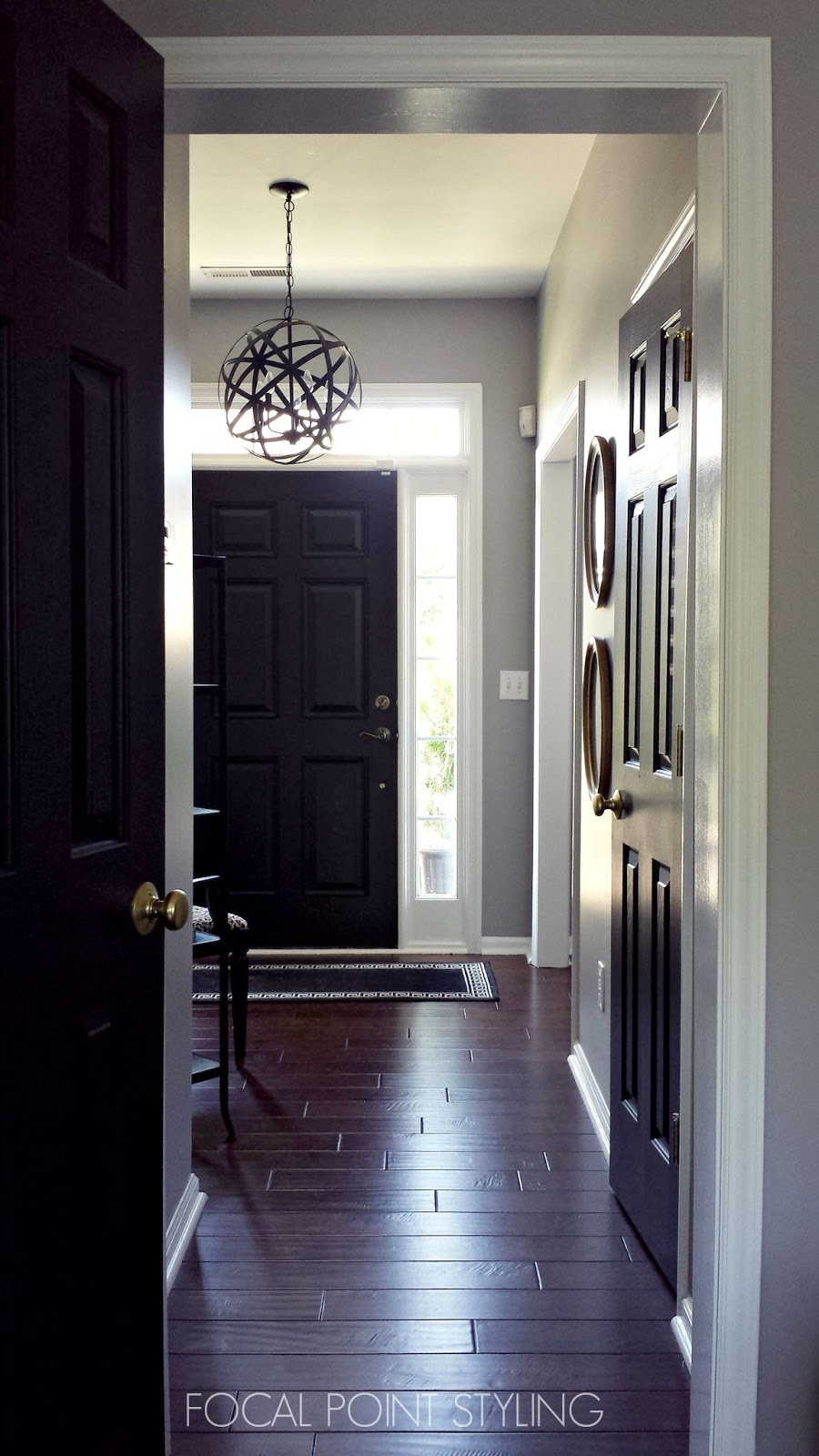styling how to paint interior doors black update brass hardware. Black Bedroom Furniture Sets. Home Design Ideas
