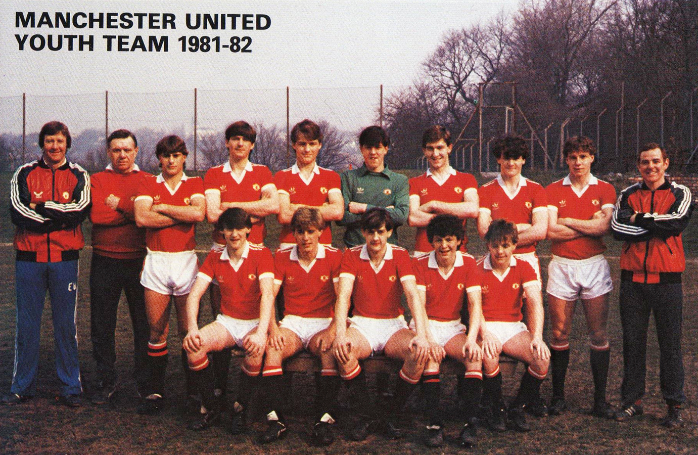 Manchester united 1981 82 youth team for Buro team 82