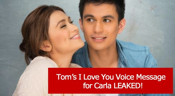 "Leaked ""I love you"" voice message of Tom Rodriguez for Carla Abellana"