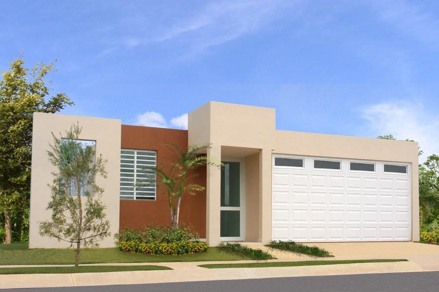Construindo minha casa clean 35 fachadas de casas for Pisos para casas minimalistas