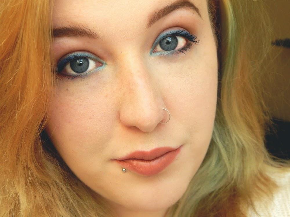 Spring Makeup Blue Ombre Eyeliner