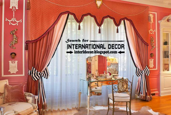 classic orange curtain designs and window treatment | curtain designs