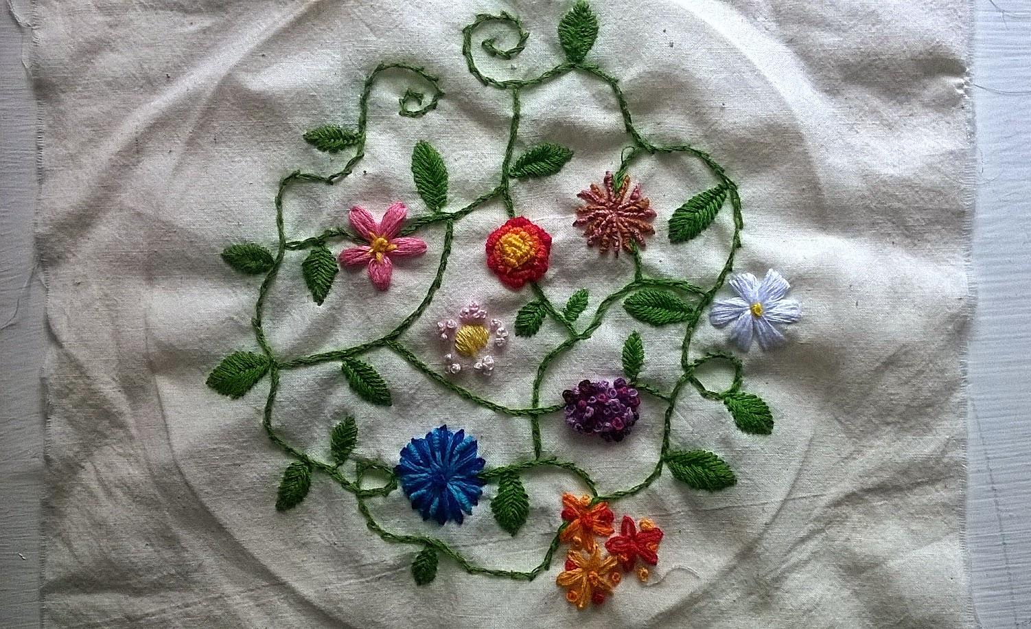Avamae vine embroidery