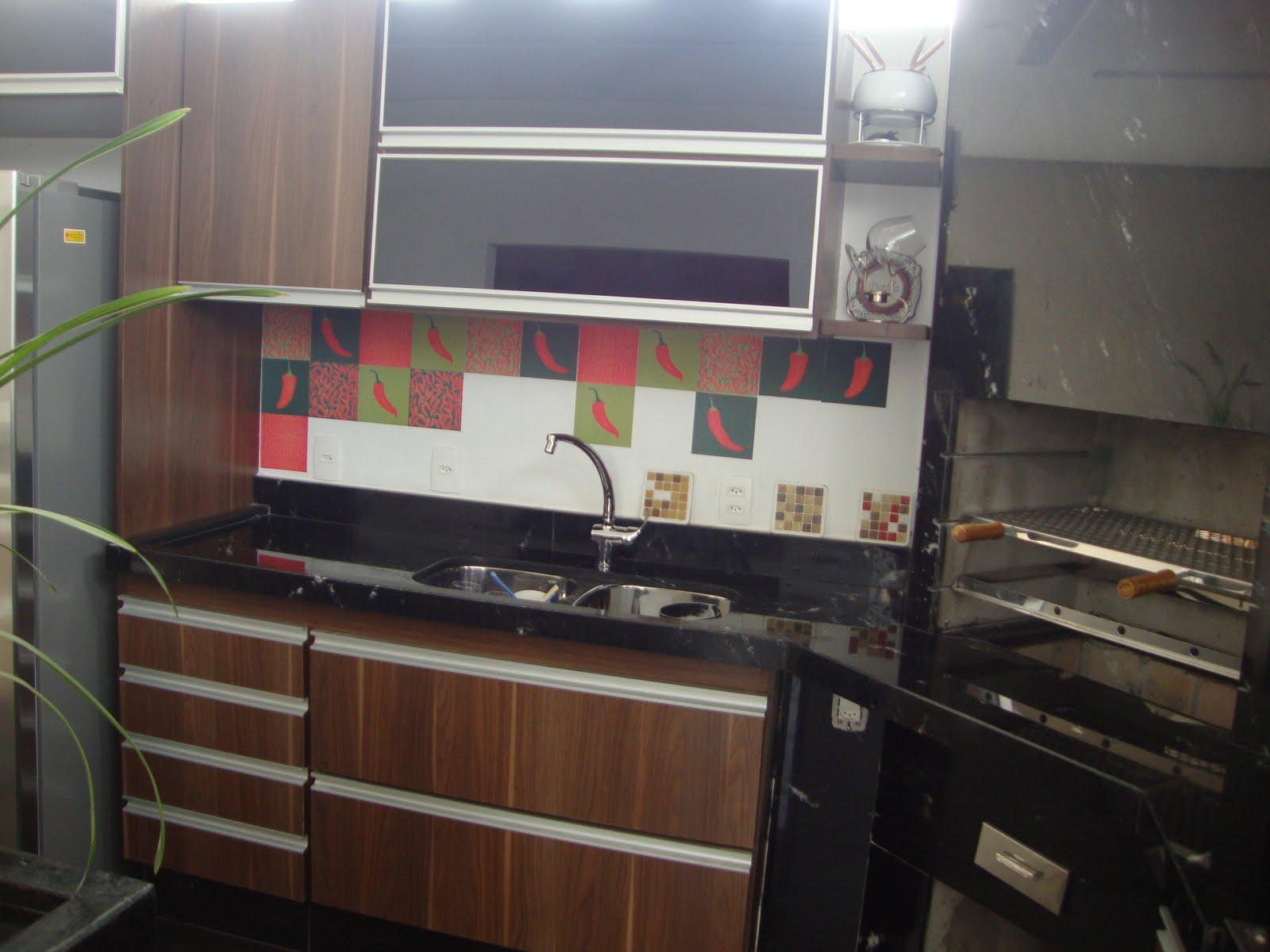 cozinha planejada com vidro preto #93383B 1600 1200