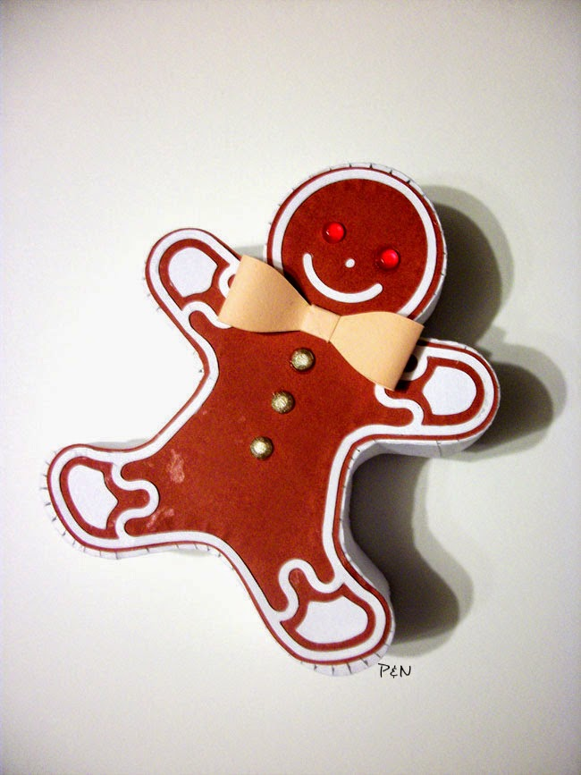 Pumps and Needles: gingerbread man gift box