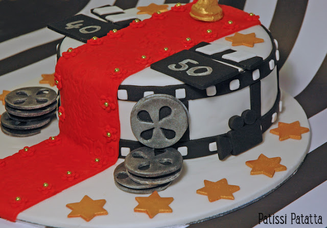 cake design, pâte à sucre, fondant, gumpast, oscar du cinéma,