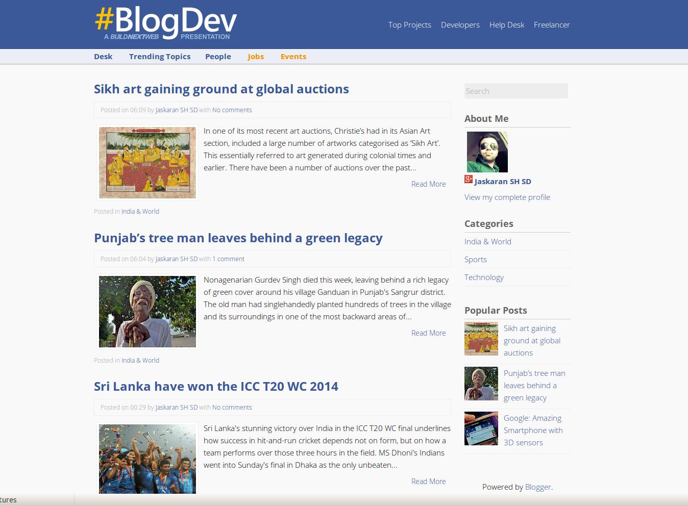 BlogDev Responsive Blogger Template