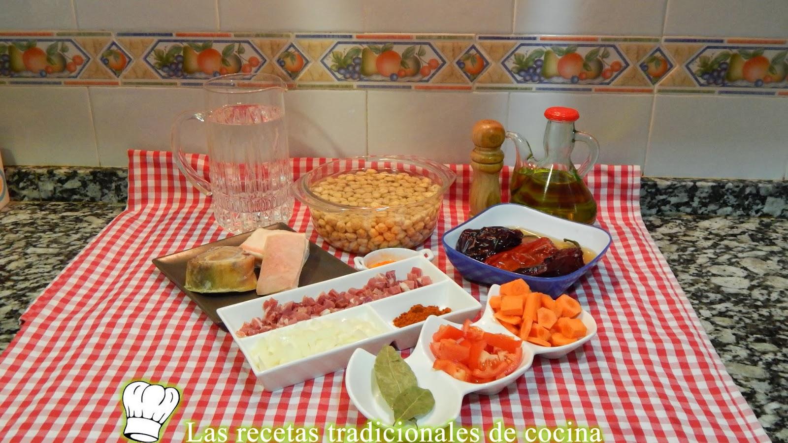 Receta de garbanzos con jamón