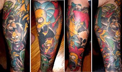 Tatuaje Simpsons Halloween