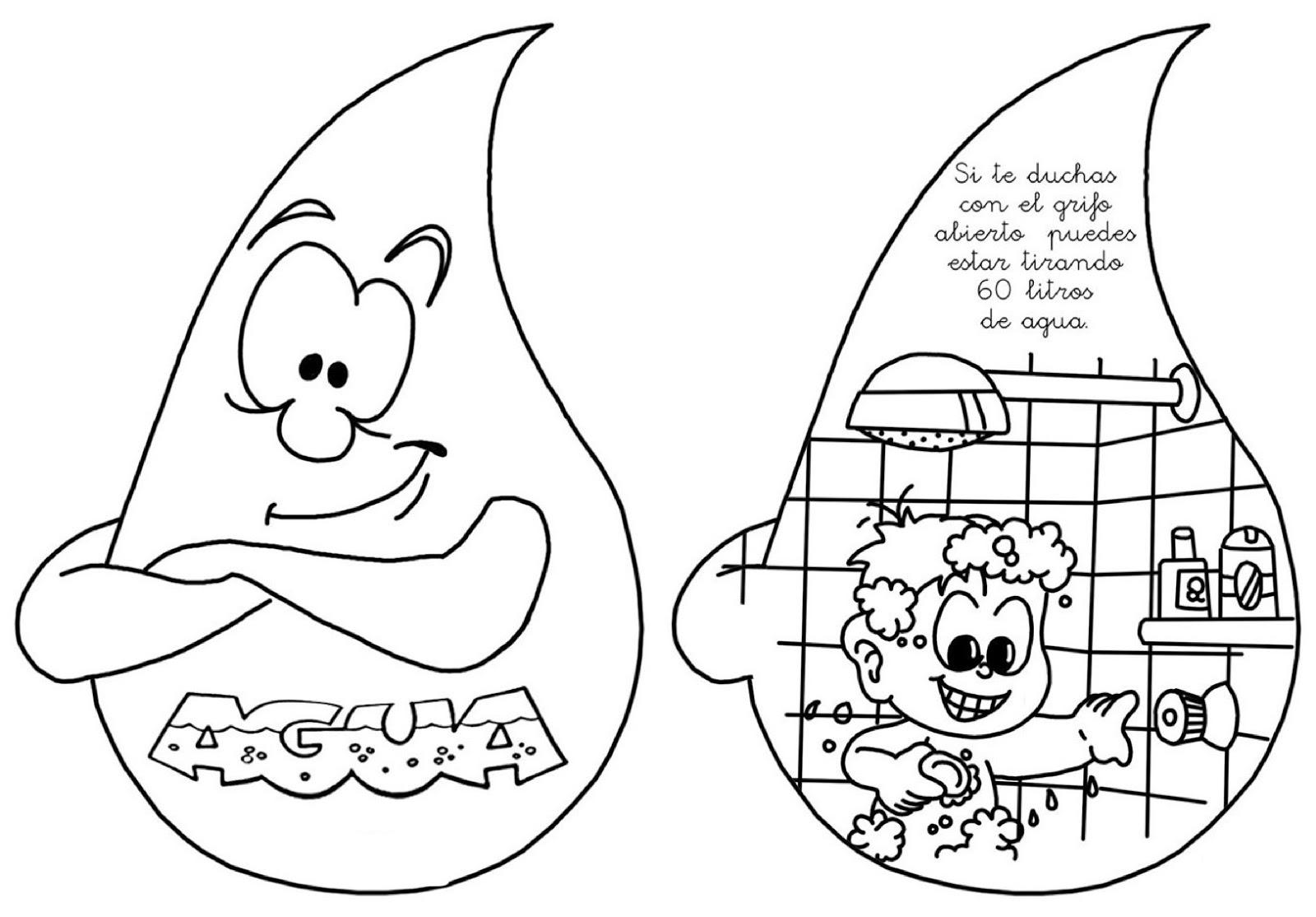Famoso Pintar Con Agua Para Colorear Libros Elaboración - Dibujos ...