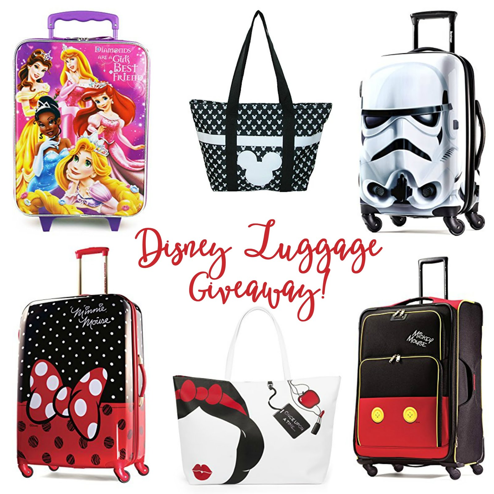 Get entered to win in the Disney Luggage Giveaway!