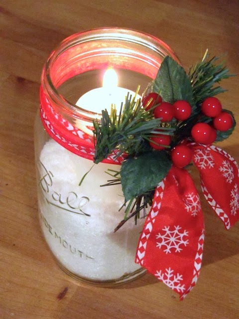 canning jar candle holder