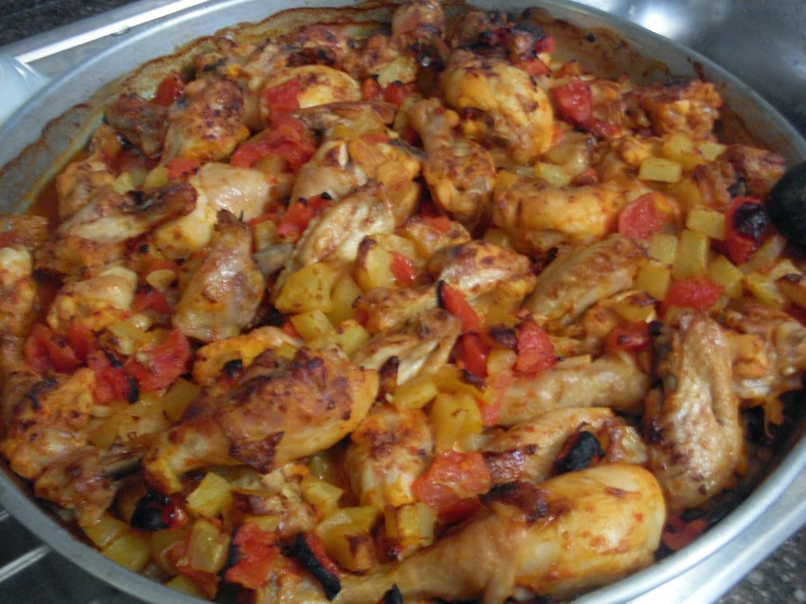 Fırında Patatesli Tavuk