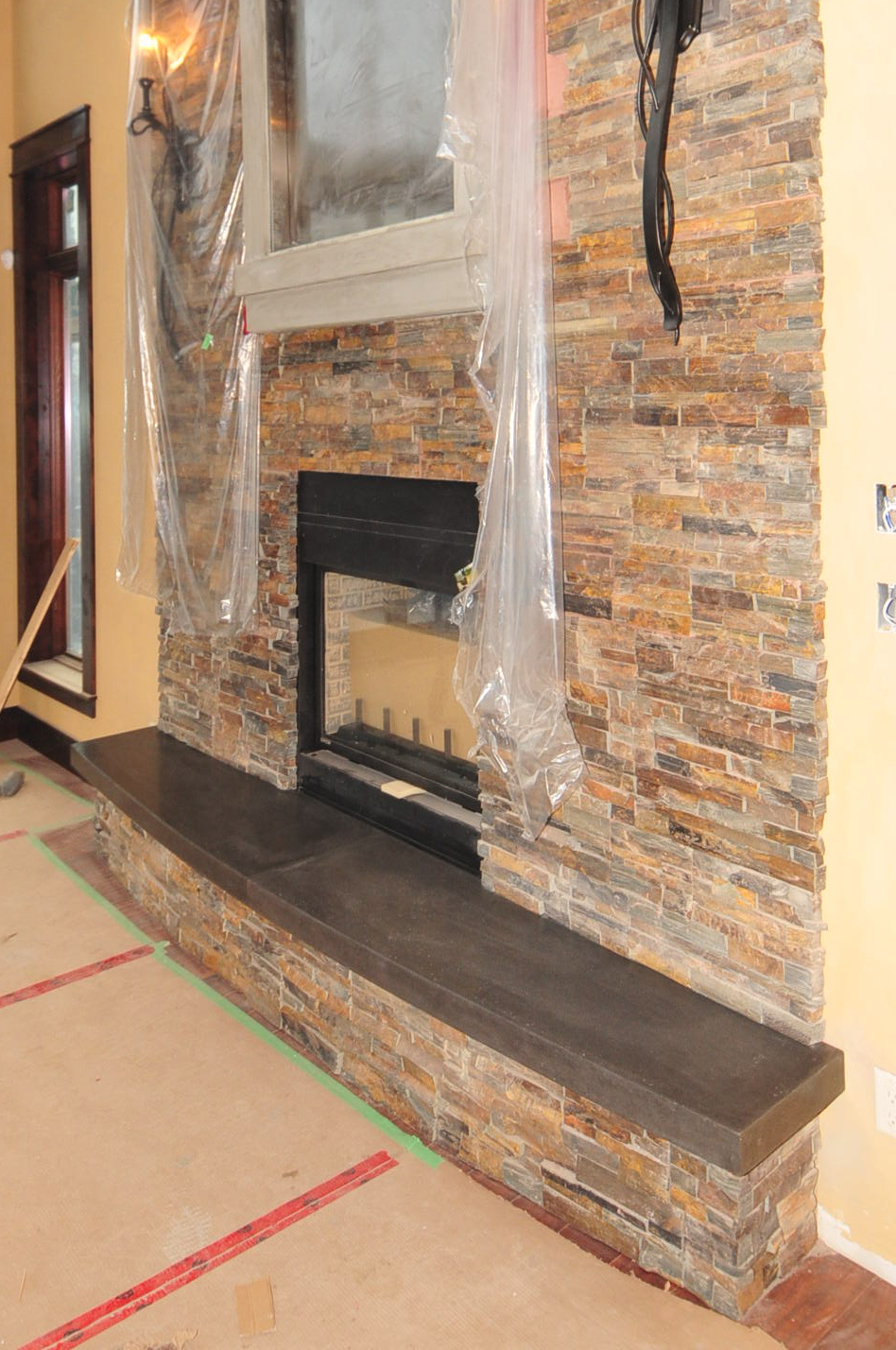Mode Concrete Add Excitement To A Beautiful Fireplace