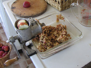 grinding apples to make cider