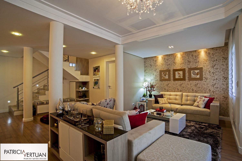 Construindo Minha Casa Clean Como Decorar Colunas No Meio Da Sala  -> Parede Sala Decorada Gesso