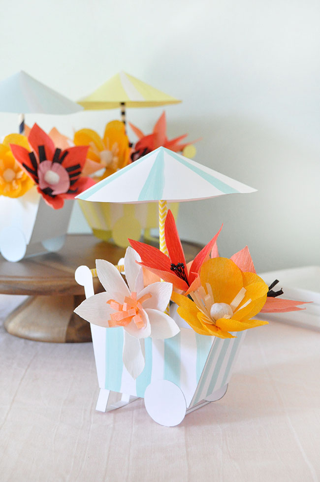 DIY Paper Flower Cart