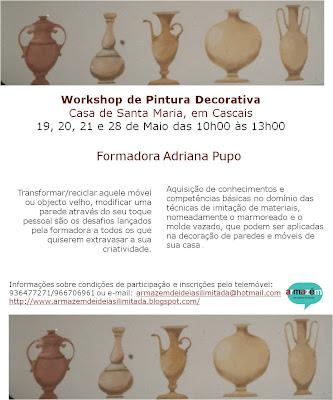 Workshop de Pintura Decorativa - Casa de Santa Maria, em Cascais