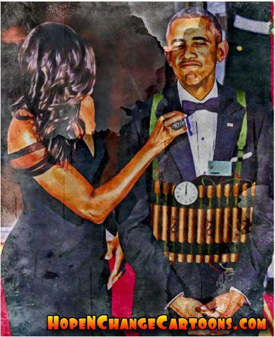 obama, obama jokes, political, humor, cartoon, conservative, hope n' change, hope and change, stilton jarlsberg, population, bomb, terror, melting pot