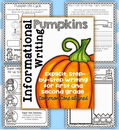 Pumpkin Informational Writing Unit a how to guide for teachers and students