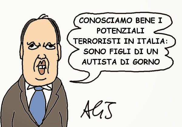 alfano, terroristi, sicurezza, vignetta, satira