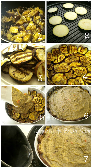 Torta cremosa e invertida de berinjela (sem massa)