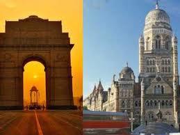 Delhi and Mumbai